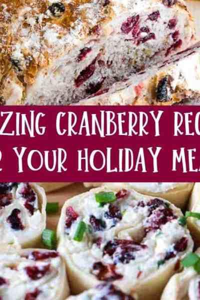 cranberry recipe featured image