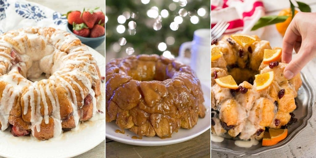 Sweet Monkey Bread Recipes collage