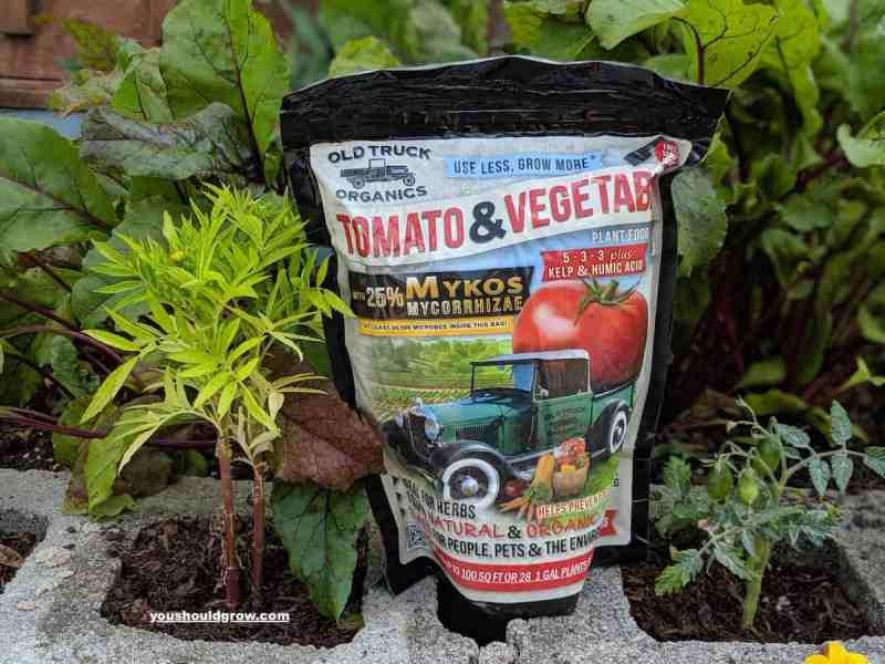 Old truck organics - example of organic fertilizer we use in our garden