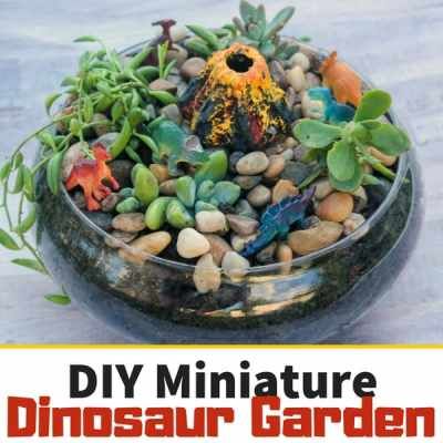 Make This Adorable Miniature Dinosaur Garden