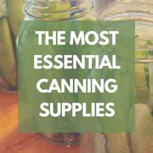 The Most Essential Canning Supplies