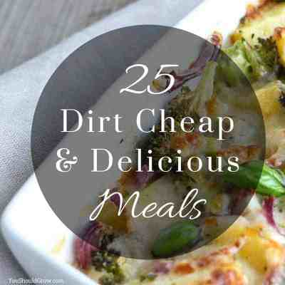 25 Dirt Cheap and Delicious Meal Ideas