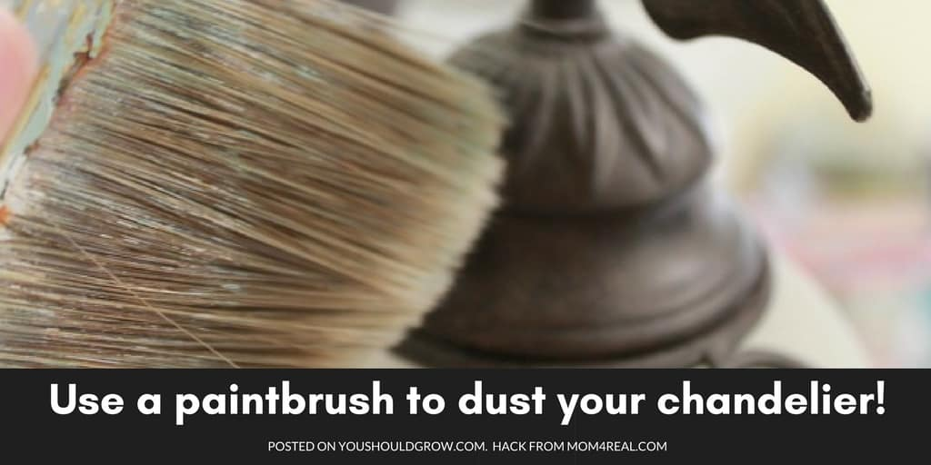 Dust your chandelier with a paintbrush