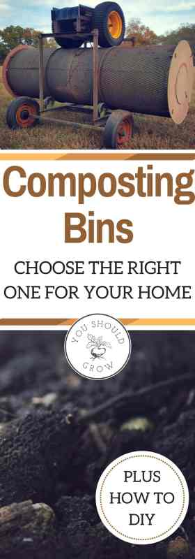 Choosing a compost bin for your home garden. What type of bin is right for your home? Learn about the types of compost bins, where to buy, compost bin ideas, and how to DIY.