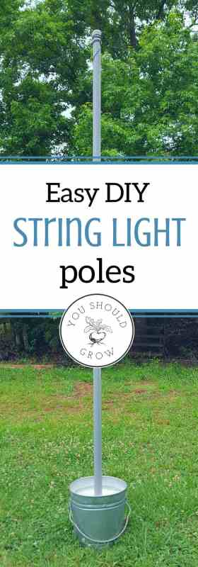 Super easy and inexpensive way to get string lights anywhere! A quick DIY that doesn't take much money or time, but looks great.