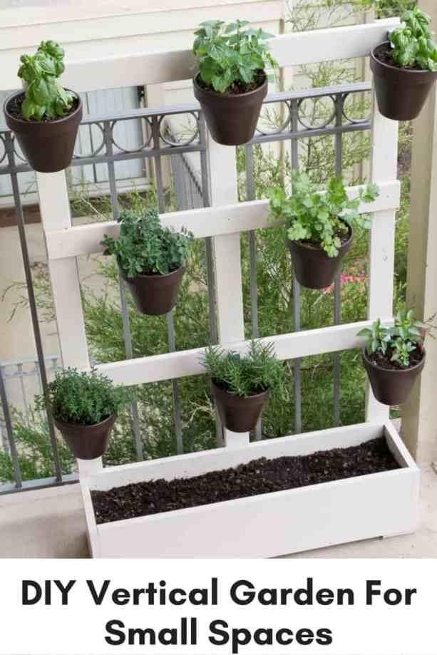 diy vertical garden for patio