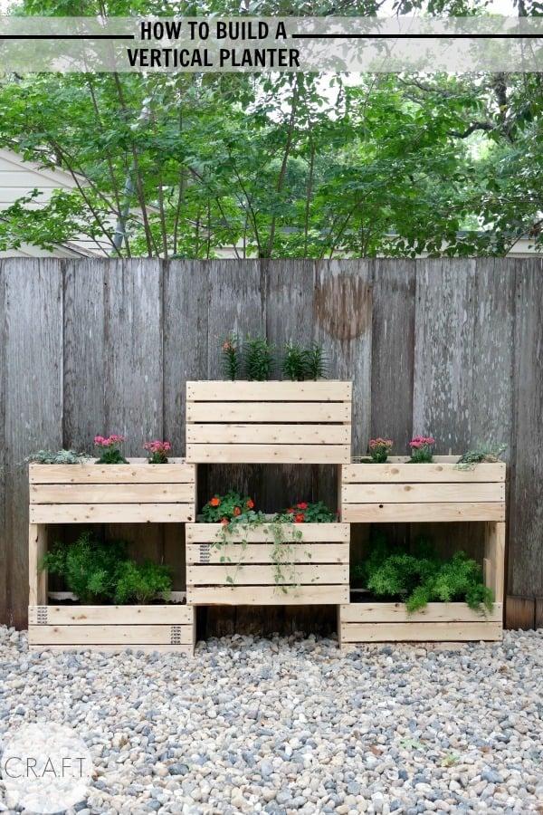 How To Build A Vertical Garden. Diy Vertical Garden Planter How To Build A