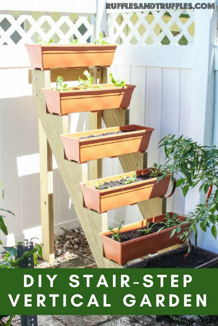 diy vertical garden stair design