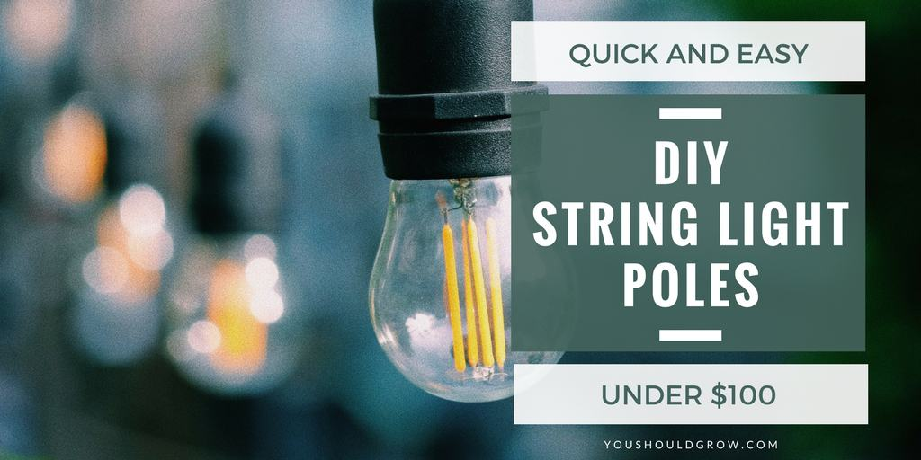 Mobile String Light Poles Easy DIY You Should Grow