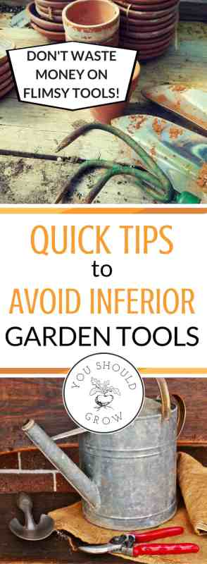 Having quality garden tools makes all the difference. Cheap tools make your work harder. Learn how to choose good tools that will work for you.