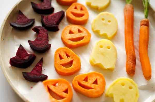healthy halloween food ideas: roasted veggies