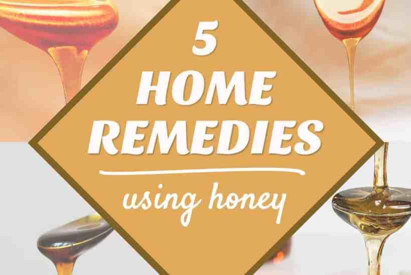 5 home remedies that take advantage of honey healing properties.