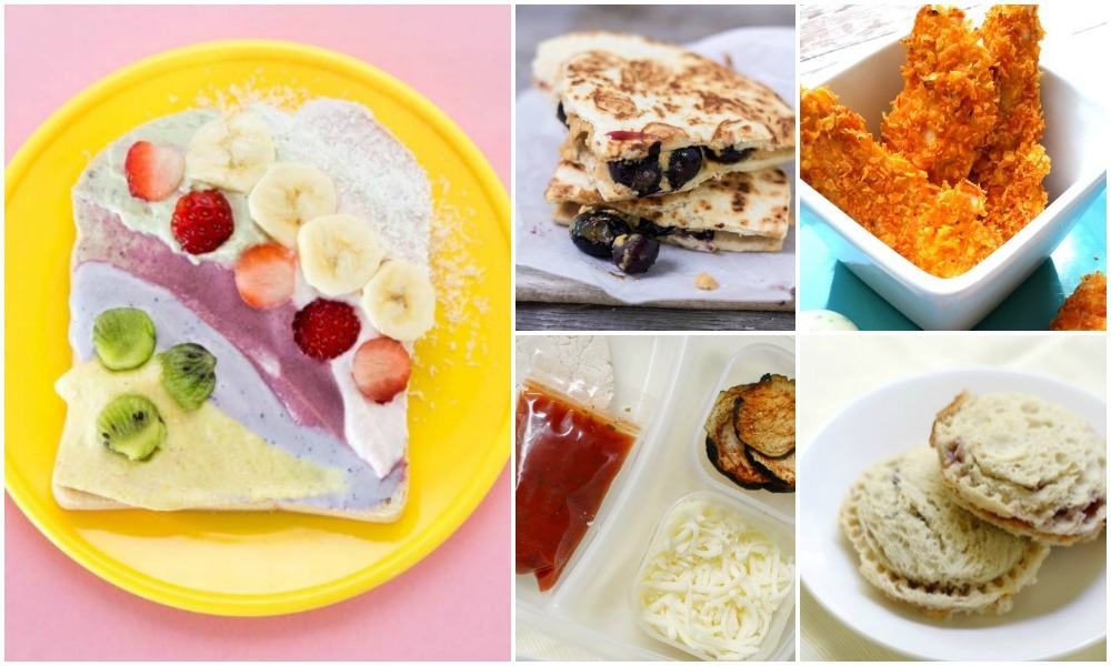 kids lunches collage