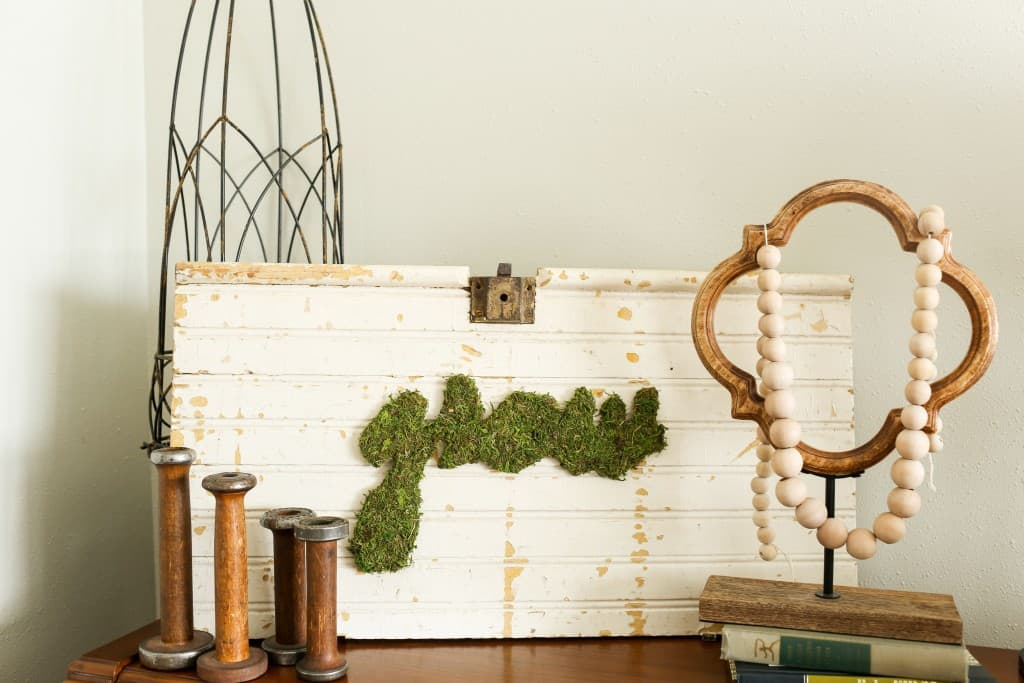 Moss Art DIY Farmhouse Decor