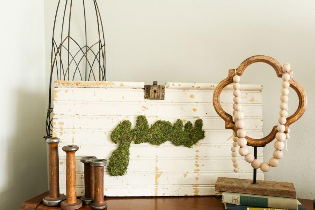 Moss Art DIY Farmhouse Decor
