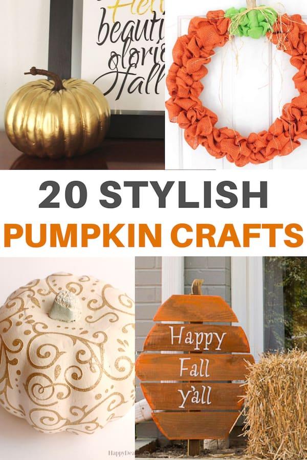 pumpkin crafts collage for pinterest