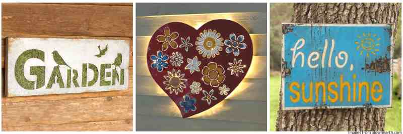 Garden signs - gift idea for mom