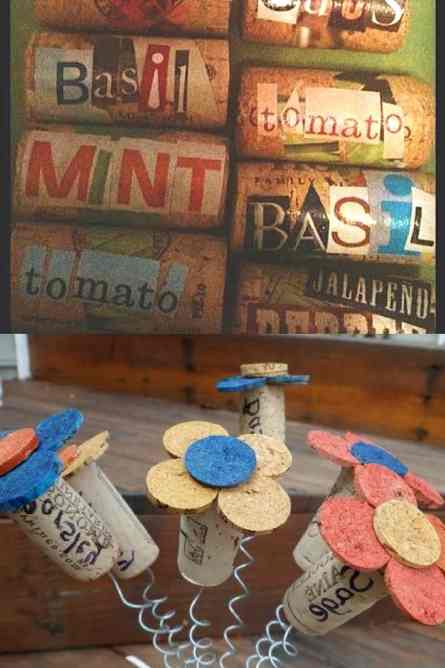 Easy diy garden plant markers using wine corks