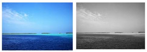 blue grey water sky
