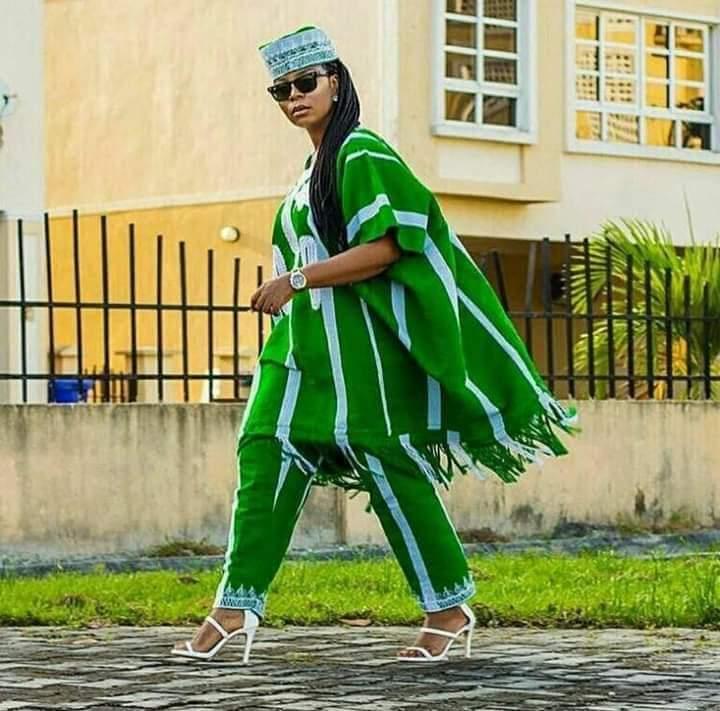green and white ankara styles