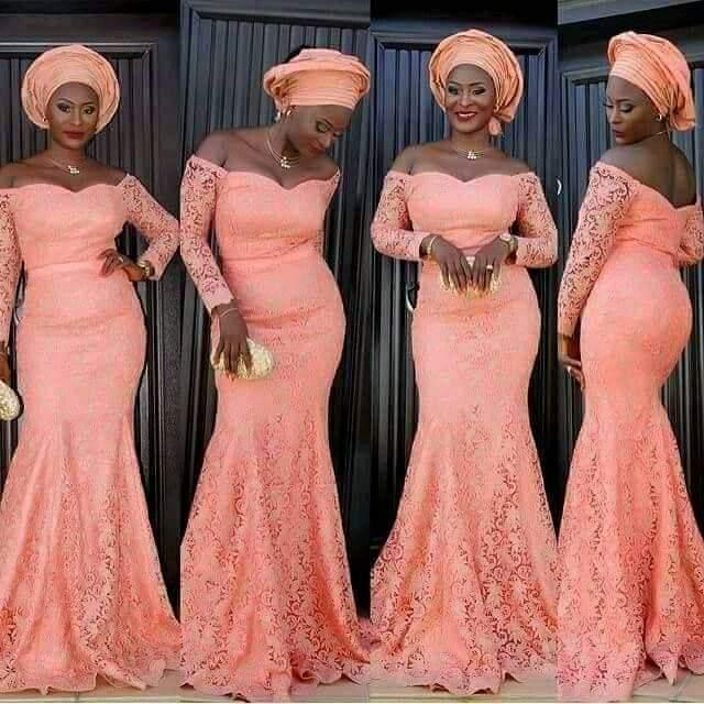 peach asoebi styles