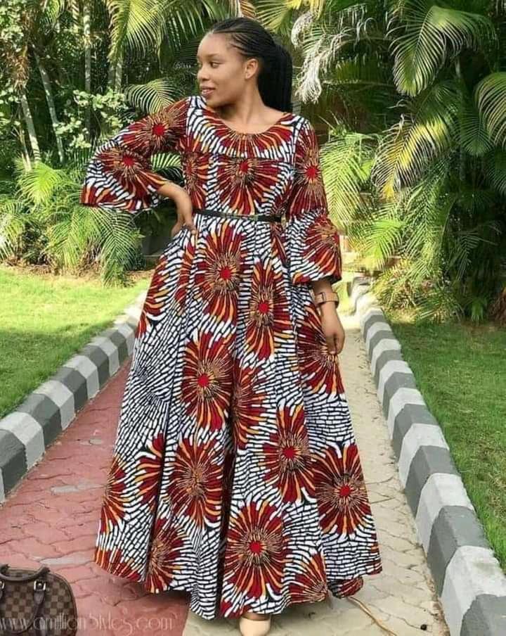 round neck Ankara dresses