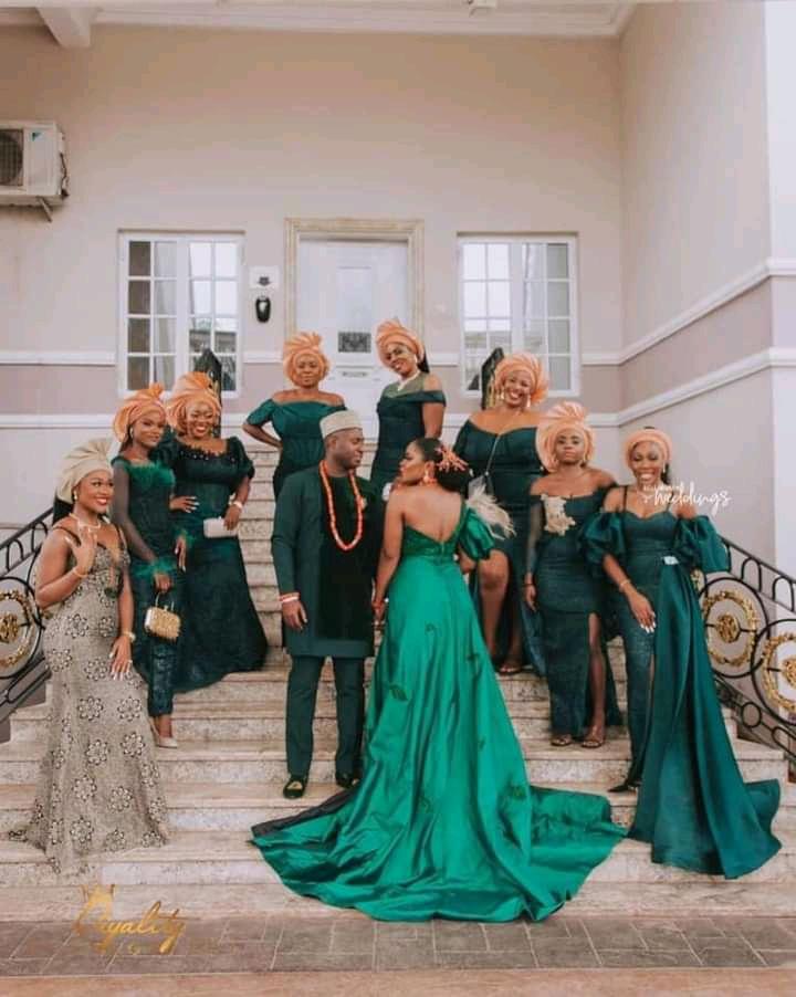 Asoebi bridesmaid dresses
