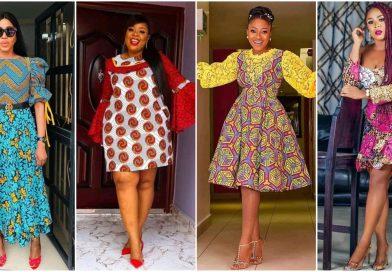 Ankara straight gown styles