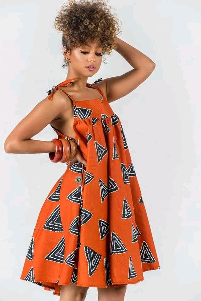 Ankara crop gown styles