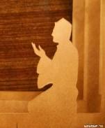 Serene Supplication - the praying man