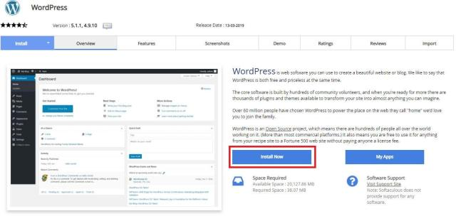 install-wordpress-softaculous