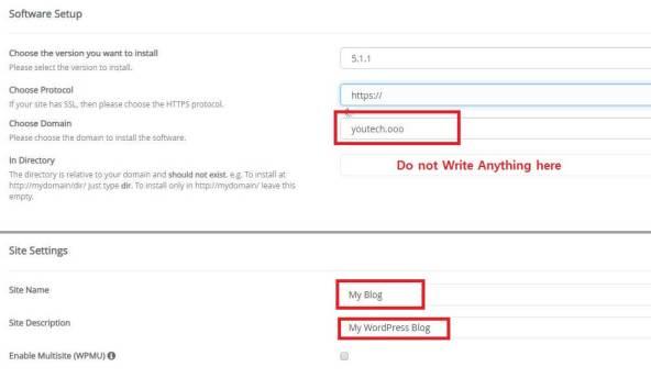 wordpress-install-settings