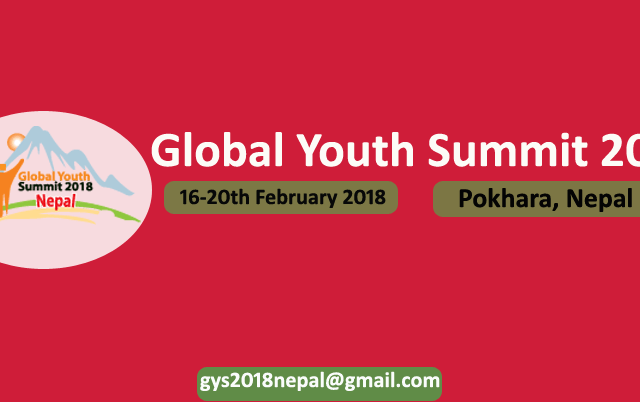 Global Youth Summit 2018 in Pokhara, Nepal