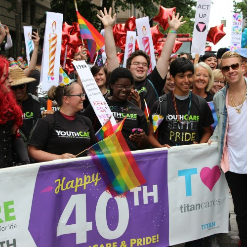 Picture at Pride Parade