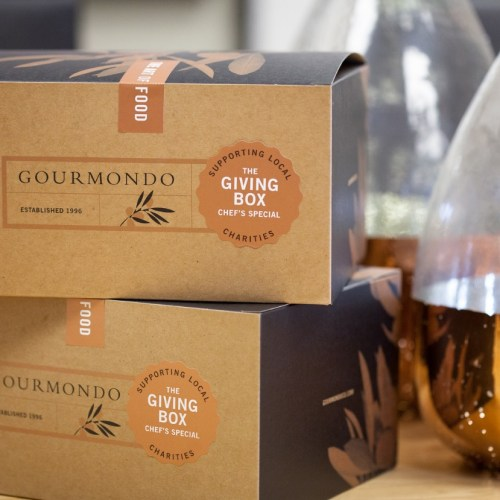 Boxes of Gourmondo Food