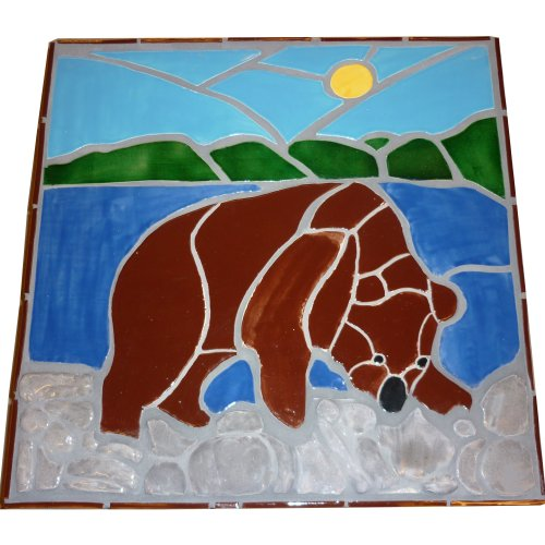 Tile mosaic of a bear