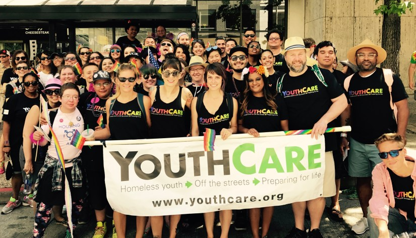 YouthCare employees at the 2017 Pride Parade