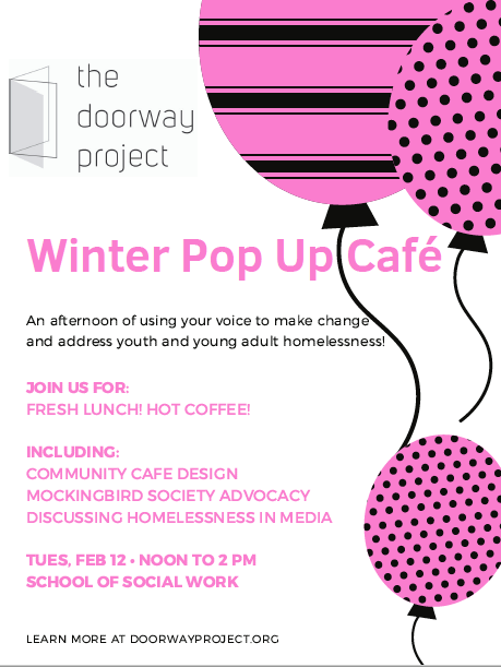 Doorway Pop-up Cafe Flyer