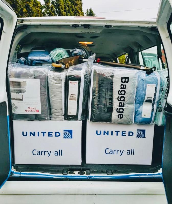United Airlines Van