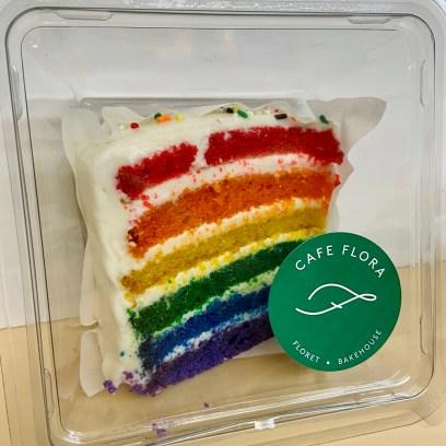 Rainbow cake for pride