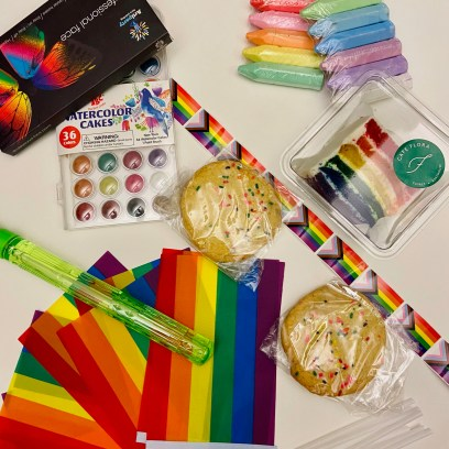 Pride art supplies and goodies