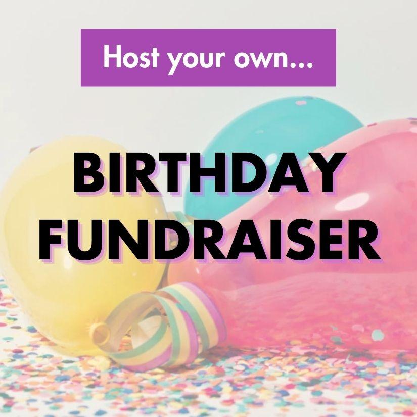 Birthday fundraiser icon