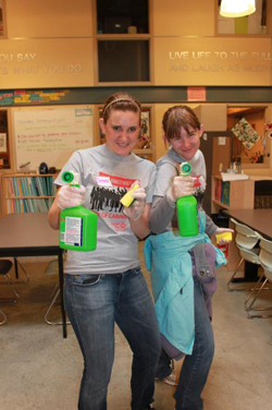 Volunteers Clean the Orion Center