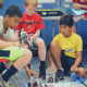Robotics teams prepare for the Robotics Evolution Challenge.