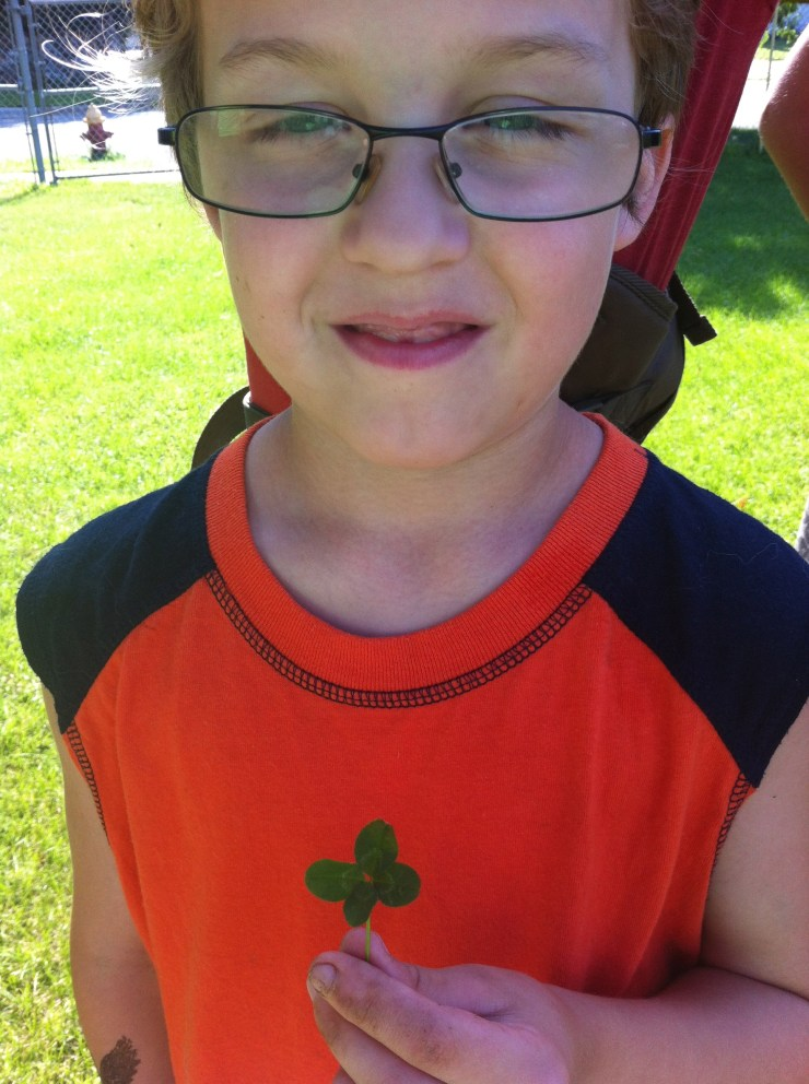 And one of our youth found a 4 leafed clover. Hard work and luck goes a very long way.