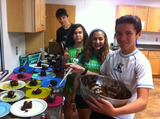 Preparing the annual compost cake party