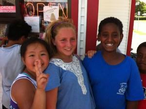 Youth farmers love eating ice cream!