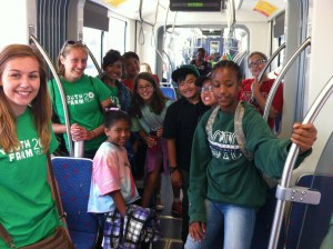 Youth Farmers take over the Green Line!
