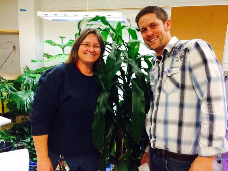 Teachers Andrea Nthole and TJ Austin