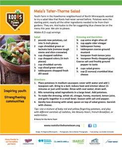 Mela's Taterthorne Salad
